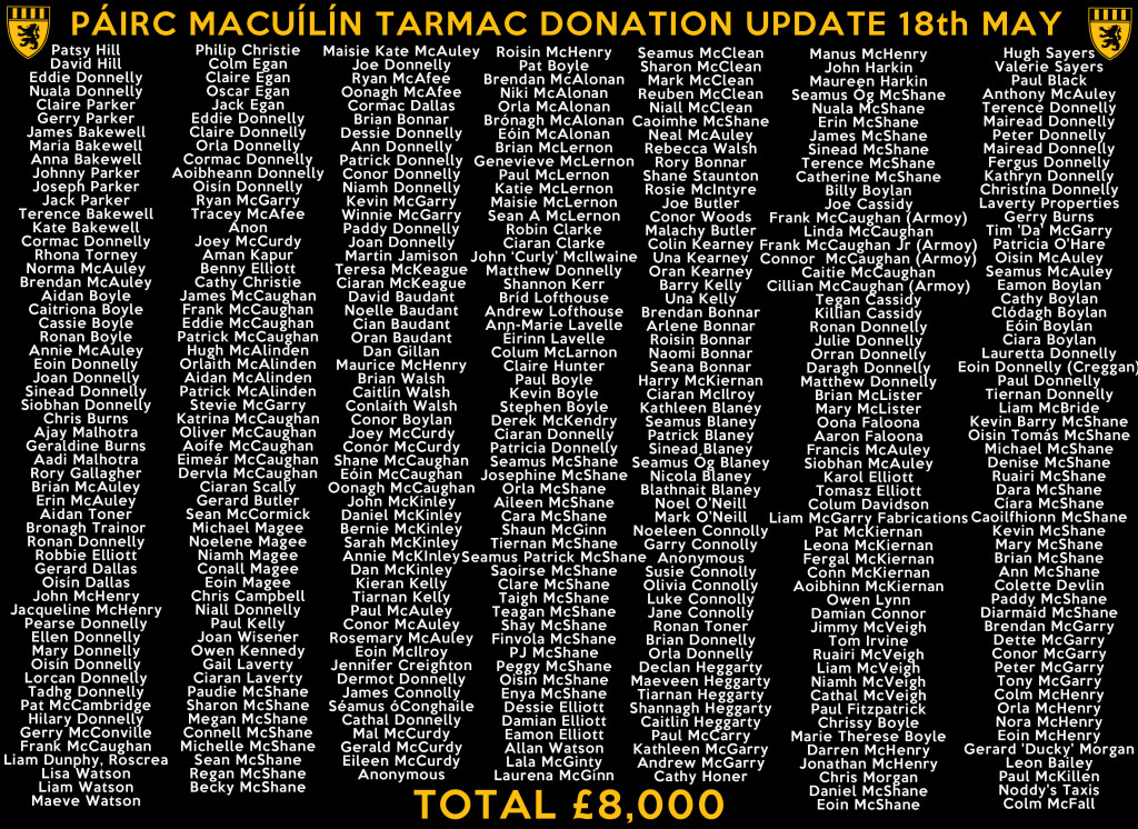 McQGAC_Tarmac-Donations